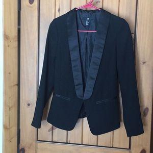 Black blazer suit coat H&M size 4 work